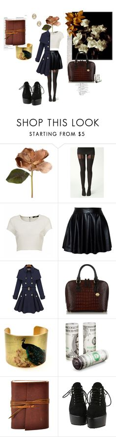 """""""Knowingly Caught Her."""" by spadeofblack ❤ liked on Polyvore featuring Boohoo and Brahmin"""