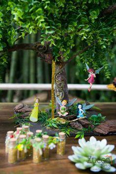 Tinkerbell inspired Woodland Fairy birthday party with SUCH CUTE IDEAS via Kara's Party Ideas KarasPartyIdeas.com Printables, cupcakes, cake...