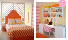 Zesty room at adore magazine by Maria Barros World Of Interiors, Coastal Bedrooms, Teen Bedrooms, Do It Yourself Design, Kids Bedroom, Kids Rooms, Study Rooms, Amazing Spaces, House And Home Magazine