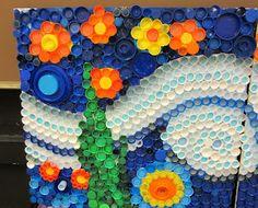 Mrs. Art Teacher!: every cap counts-our bottle cap mural