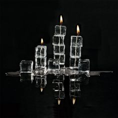 I didn't have any wax, so I had to make my candles out of ice cubes. You wouldn't believe how hard it is to keep those things lit. Candle Art, Candle Lanterns, Fire Photography, Creative Photography, Oil Candles, Aesthetic Colors, Aesthetic Pastel Wallpaper, Fire And Ice, Love And Light