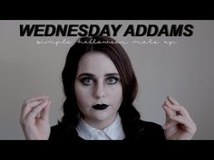 Wednesday Addams Makeup // Simple Halloween Wednesday Addams makeup // urban decay Halloween makeup // easy Halloween makeup Easy Halloween, Halloween Makeup, Wednesday Addams Makeup, Simple Makeup, Urban Decay, Youtube, Haloween Makeup, Youtubers