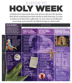 Infographic: A guide to Holy Week - Denver Catholic