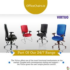 Virtuo - Part of our 24/7 Chair Range #office #ergonomic
