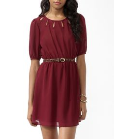 Semi-Sheer Cutout Dress - Forever 21 $22.80