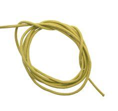 Cordoncino in cuoio colorato, spessore 2 mm., colore Verde pistacchio