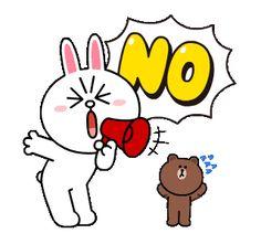 LINE MOBILE & LINE FRIENDS Buzzwords! | Line Sticker Cute Cartoon Images, Cute Couple Cartoon, Cute Love Cartoons, Cute Cartoon Wallpapers, Cartoon Memes, Animated Emojis, Animated Gif, Hug Love Gif, Line Cony