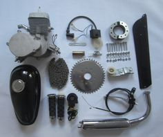 66cc Kit. Bicycle Engine Kit, Bike Trailer, Motorized Bicycle, Bicycle Parts, Black Body, Personalized Items, Bicycles, Stuff To Buy, Bike