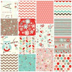 nested owls coral fabric - Google Search Fabric for Lydia's crib
