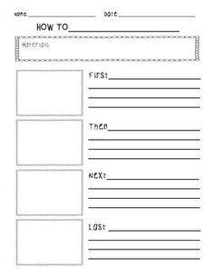 This Procedural Writing Package includes* Procedural Writing Worksheet with…