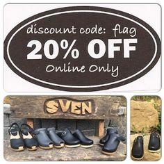 Sven Clogs  - 20% Off Sale!  Discount Code:  flag Online Purchases Only https://www.svensclogs.com/ Sven Clogs - Google+