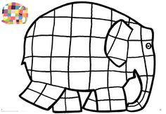 Nice Elmer The Elephant Coloring Page 22 For Your with Elmer The Elephant Coloring Page Book Activities, Preschool Activities, Elephant Template, Elmer The Elephants, Elephant Coloring Page, Elephant Crafts, Elephant Colour, Valentines Day Coloring, Preschool Letters