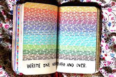 Image via We Heart It https://weheartit.com/entry/157808117 #beautiful #creative #Dream #love #rainbow #wreckthisjournal