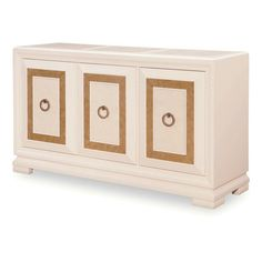 LuxTouch Vintage Furniture & Decor ~ With Louise May Heath... Sideboard with matallic gold and pearl white pearlescent glaze..