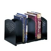 Found it at Wayfair.co.uk - Adjustable 5 Section Steel Book Rack in Black