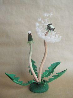 Needle felted dandelion by Feltedcreatures on Etsy