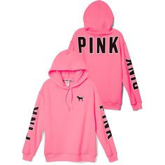 PINK Game Day Hoodie ($50) ❤ liked on Polyvore featuring tops, hoodies, oversized hoodie, oversized hooded sweatshirt, hooded pullover, sweatshirts hoodies and oversized tops