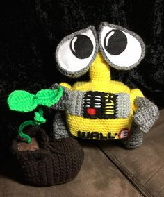 Crochet Wall-e amigurumi doll by rosietoesiez on Etsy
