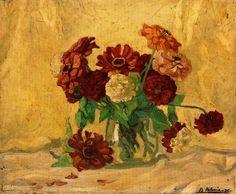 Bodegón de flores. 1935. Obra de Benjamín Palencia