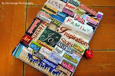 Easy personalized journal. All you need is some magazines, scissors, and glue. Turn that little girl journal into something special for a tween/teen