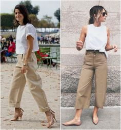 A Calça da Riqueza Linen Pants Outfit, Khakis Outfit, Beige Outfit, Casual Fall Outfits, Cool Outfits, Summer Outfits, Cream Trousers, Look Fashion, Fashion Outfits