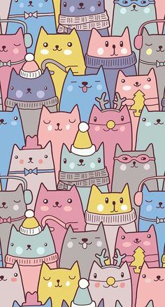 Check out this awesome post: Wallpaper gatos para celular - Wallpaper - Katzen Wallpaper Gatos, Cute Cat Wallpaper, Kawaii Wallpaper, Trendy Wallpaper, Wallpaper Awesome, Wallpaper Ideas, Cat Pattern Wallpaper, Perfect Wallpaper, Beautiful Wallpaper