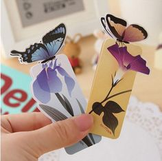 Fashion Sweet Cute Butterfly Style Paper Bookmarks Book Marks Clip Gift #Others