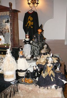 Nicol Sayre Halloween Witch Dolls