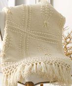 Aran Crochet Throw