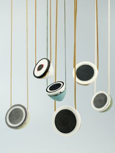 Marj Taylor - handthrown porcelain jewellery