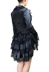 Plus-Size Victorian Punk Corset Satin Jacket (I have this jacket, it is even more breath taking in person).