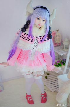 char:Kanna Kamui Cosplayer:Tiểu Nhu #anime:Maid Dragon