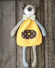 """Купить Мишка для пижамки или детских """"секретиков"""" - желтый, мишка, Пижамница…"""