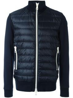 MONCLER padded front zip-up jacket. #moncler #cloth #재킷