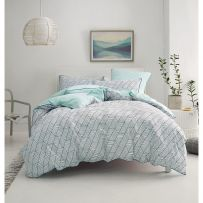 Deco by Linen House Loft Navy Double Quilt Cover Set