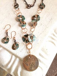 Grungy Inspired Re-Purposed Necklace  by Teri Griffith