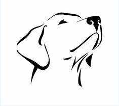 liegender labrador als grafik | tiere zeichnen, hund