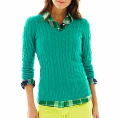jcp™ Wool-Blend Cable Sweater - JCPenney