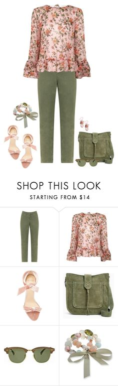 """""""Making Me Blush"""" by alara-cary ❤ liked on Polyvore featuring Silver Jeans Co., Topshop, Alexandre Birman, Ray-Ban, Erica Lyons and Charter Club"""