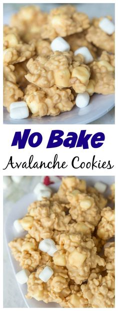 Easy No Bake Avalanche Cookies – just 4 ingredients and 5 minutes to make this. Easy No Bake Avalanche Cookies – just 4 ingredients and 5 minutes to make this cookie version of Rocky Mountain Chocolate Factory's Avalanche Bark! Brownie Desserts, Oreo Dessert, Mini Desserts, No Bake Desserts, Easy Desserts, Dessert Recipes, Healthy Desserts, Holiday Baking, Christmas Baking