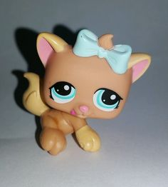 Littlest Pet Shop Petriplets Cat Kitten Blue Bow Blue Eyes #1335 Preowned LPS in Toys & Hobbies, Preschool Toys & Pretend Play, Littlest Pet Shop | eBay