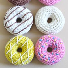 Free crochet pattern and video tutorial. These little cuties are so fun and easy to make. They look good enough to eat! 100% fat free! thanks so xox ☆ ★ https://www.pinterest.com/peacefuldoves/