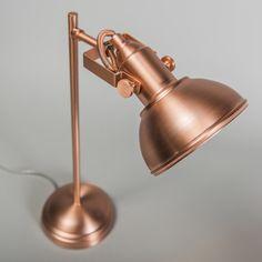 Lampa stołowa Tommy 1 miedź