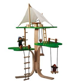 Take a look at this Tree House Set by PlanToys on #zulily today!
