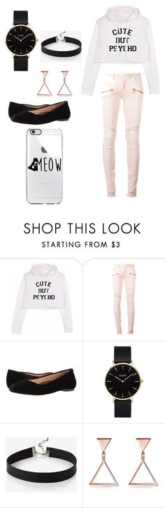 """""""Classy yet Casual... 💕"""" by soulsinner ❤ liked on Polyvore featuring Balmain, Walking Cradles, CLUSE and Express"""