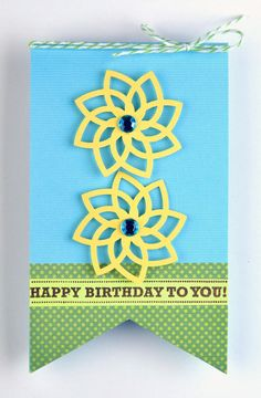 Happy Birthday Card using the Intricate Shape Punches www.fiskars.com