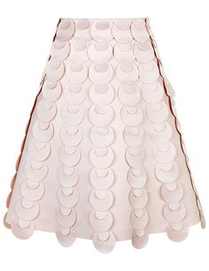 Blush Pink Scaled A-line Skirt | Paskal | Avenue32
