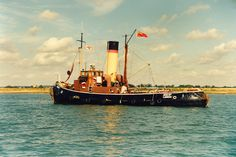 Steam Tug 'Brent' in 1987 at Goldhanger High Water
