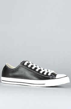 The Chuck Taylor All Star Specialty Leather Ox Sneaker in Black by Converse use rep code: OLIVE for 20% off!