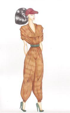 Trabalho para o 2º Semestre de Design de Moda - Mini coleção Serra da Capivara #serradacapivara #croqui #moda